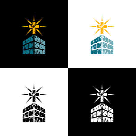 Logo design church. Illustration of the logo design of the church as a symbol of Christianity