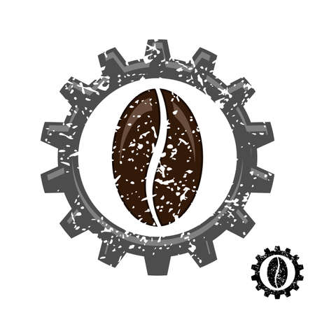 The coffee industry. Illustration symbol of coffee industry on white background
