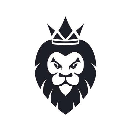 Lion as logo design. Illustration of a lion as logo design on a white background.