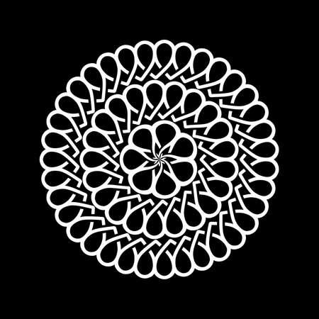 Decorative abstract circles. Illustration of decorative abstract circles on a black background