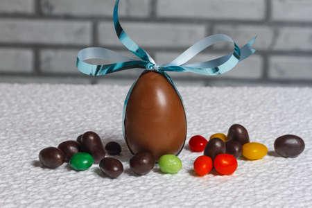 Easter chocolate egg Stock Photo