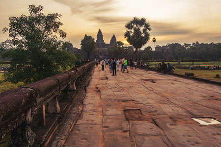 Road to Angkor Wat temple.