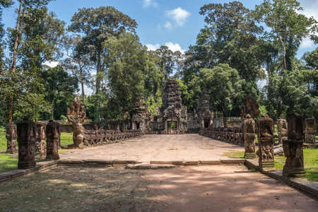 Road to Preh Khan temple, Siem Reap, Cambodia Stock Photo