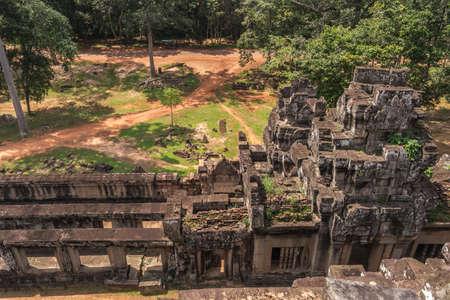 View from Ta Keo temple in Angkor, Siem Reap, Cambodia 版權商用圖片