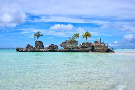Boracay island Grotto,  Willy's Rock, - Famous and Controversial Landmark , Philippines Stock Photo