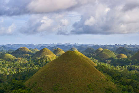 Famous Chocolate Hills view, Bohol Island, Philippines 스톡 콘텐츠