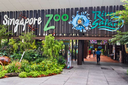 SINGAPORE - NOBEMBER 29, 2017: Entrance to zoo