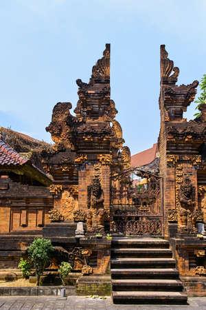 Pura Penyarikan temple view in Kuta, Bali island, Indonesia Stock Photo