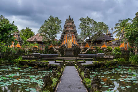 Pura Taman Kemuda Saraswati Temple in Ubud, Bali island, Indonesia Stock Photo