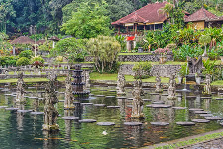 Tirta Gangga water palace on Bali island, Indonesia