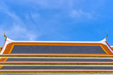Colorful asian tile roof