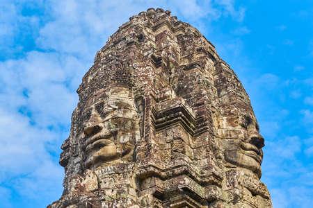 Stone faces at Bayon Temple, Siem Reap, Cambodia