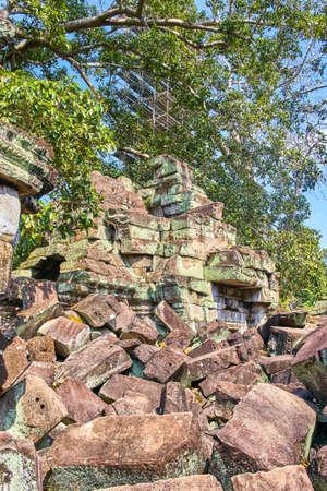 Preh Khan temple stone ruins, Siem Reap, Cambodia