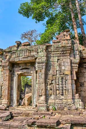 Preh Khan temple, Siem Reap, Cambodia Фото со стока