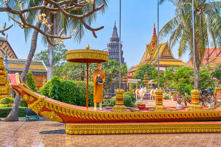 Wat Preah Prom Rath beautiful temple in Siem Reap, Cambodia