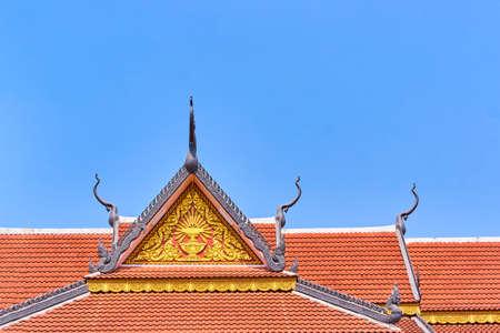 Wat Preah Prom Rath beautiful temple roof in Siem Reap, Cambodia