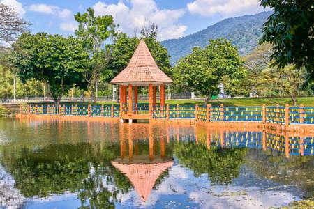 Beautiful Taiping Lake Gardens Alcove or Taman Tasik, Malaysia