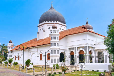 Kapitan Keling Mosque in Georgetown city, Penang island, Malaysia Stock Photo