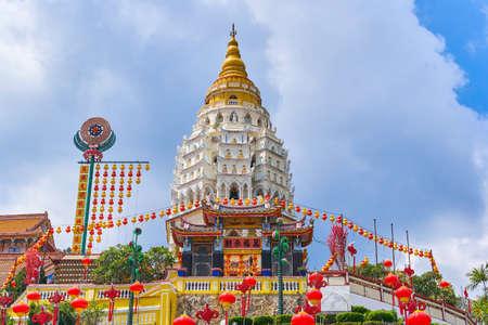 Kek Lok Si Temple on Penang island, Georgetown, Malaysia Stock Photo