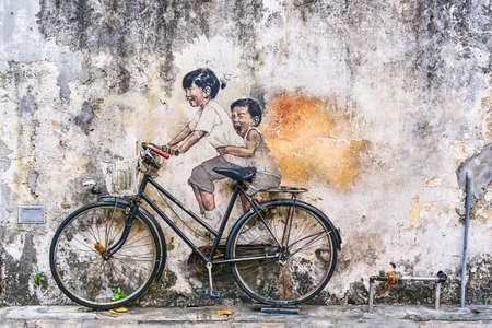 GEORGETOWN, MALAYSIA - 14. FEBRUAR 2018: Street Art