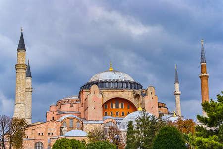 Hagia Sophia mosque in sultanahmet, Istanbul, Turkey. Stock Photo