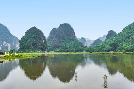 Mountains view in Ninh Binh, Vietnam