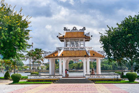Beautiful Pavilion located near the Citadel  in Hue city, Vietnam