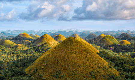 Famous Chocolate Hills view, Bohol Island, Philippines Фото со стока