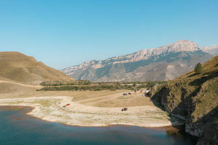 Beautiful lake in the Elbrus region Stok Fotoğraf