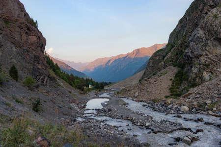 Scenic caucasus mountains