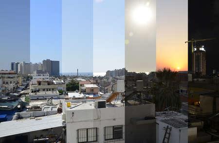 tel aviv: Time lapse - Tel aviv roofs Stock Photo