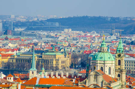 panorama of prague taken from the strahov monastery.