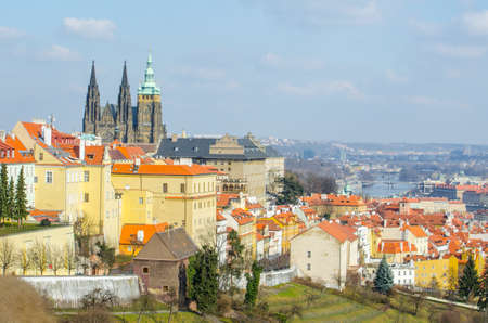 view of the prague castle taken from the strahov monastery.