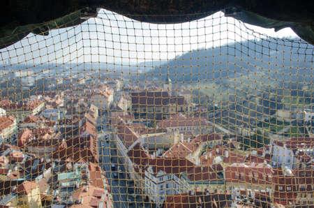 saint nicolas: view of praguetaken from the top of saint nicolas church. Editorial