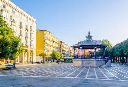 Plaza pombo in the spanish city Santander  Stock Photo