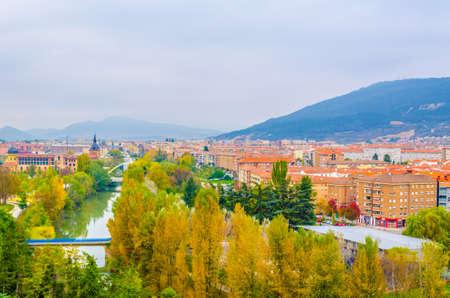 Aerial view of Pamplona, Spain