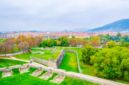 View of a citadel in Pamplona, Spain  Stock Photo