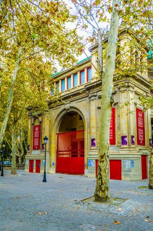 Plaza de toros – a bullring in the spanish city Pamplona