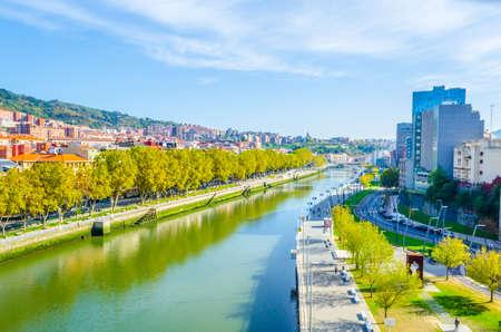 Aerial view of Bilbao, Spain Stock Photo