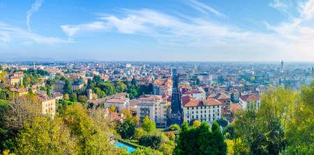 Aerial view of Bergamo, Italy