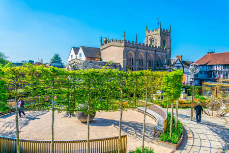 The guild chapel in Stratford upon Avon, England  Stock Photo