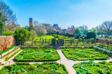 View of the new place gardens in Stratford upon Avon, England Stockfoto