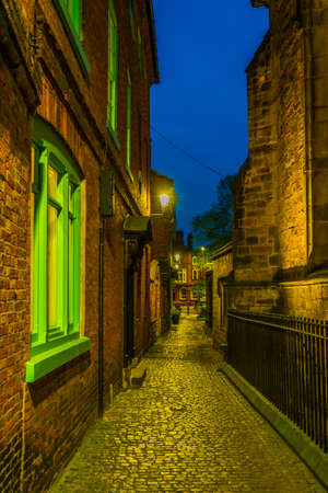 Brick houses in Leicester, England