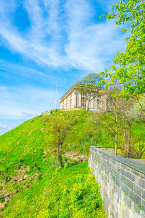 the Nottingham castle, England  Stock Photo