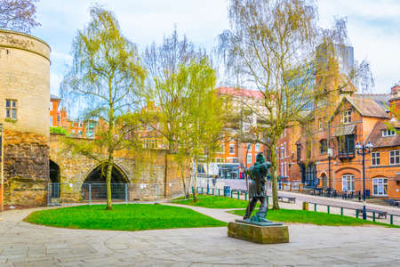 Statue of Robin Hood in Nottingham, England