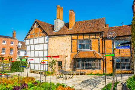 View of the New Place in Stratford upon Avon where William Shakespeare lived, England