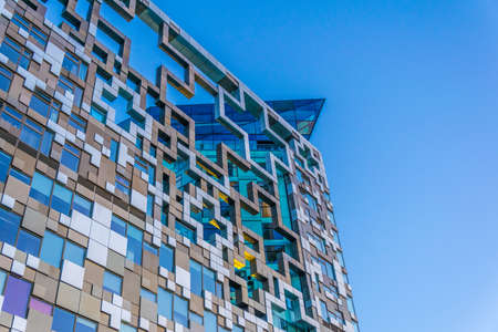 Detail of the Cube building in Birmingham, England  Stock Photo