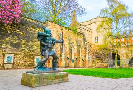 Statue of Robin Hood in Nottingham, England