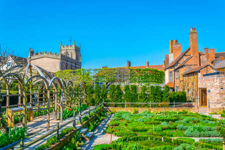View of the new place gardens in Stratford upon Avon, England