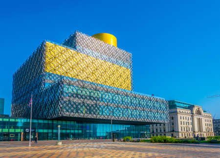 Library of Birmingham and Baskerville house, England Editorial